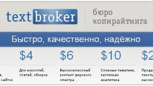 Уникальный контент высокого качества на бирже копирайтинга TextBroker